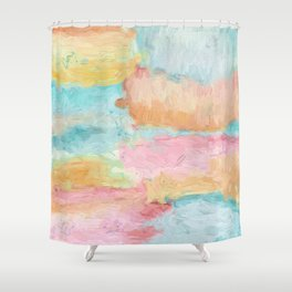 Abstract Watercolor - Design No.1 Shower Curtain