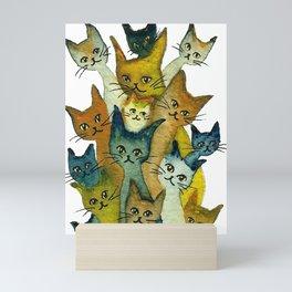 Kalamazoo Whimsical Cats Mini Art Print