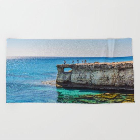 Cyprus Sea IV Beach Towel