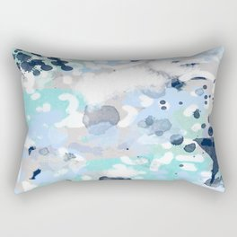 Silva - abstract painting large canvas art print for modern decor cool blue relaxing design urban Rectangular Pillow