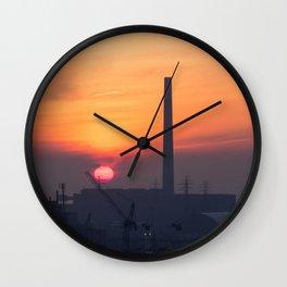 Sunrise over the Portlands Wall Clock