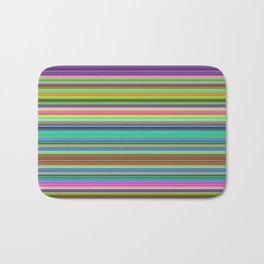 Summer Stripes – Clock 2 - Living Hell Bath Mat