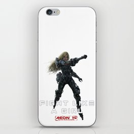 Fight Like a Girl - COLOR iPhone Skin