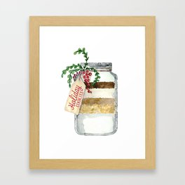 Holiday cookies in a jar Framed Art Print