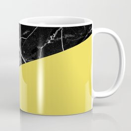 Black Marble and Meadowlark Yellow Color Coffee Mug