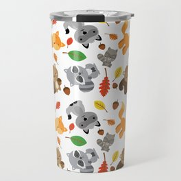 Wood animals pattern Travel Mug