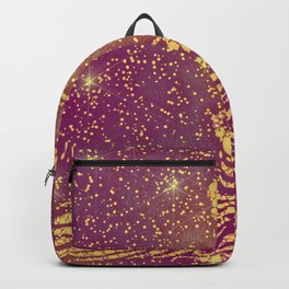 Sparkling Red & Yellow Peacock Backpack