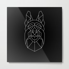 Aesthetic German Shepherd Dog Polygonal Metal Print