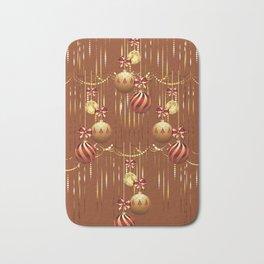 Christmas glass balls Bath Mat