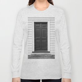 Door with Cobwebs in Black and White Long Sleeve T-shirt