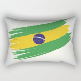 Abstract Brazil Flag Design Rectangular Pillow