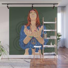 Hippy Girl  Wall Mural