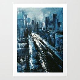 """Manhattan"" Painting Art Print"