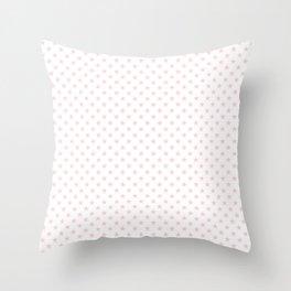 Light Soft Pastel Pink Stars on White Throw Pillow