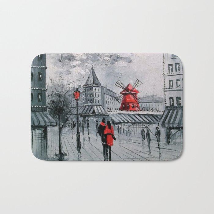 Romance in Paris Bath Mat
