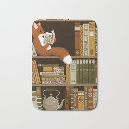 fox bookshelf Bath Mat