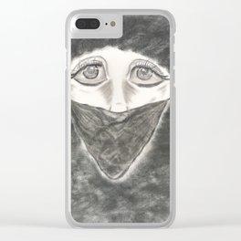 Sad Silence Clear iPhone Case