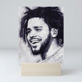 J cole scrible art Mini Art Print