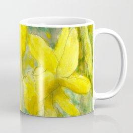 Rise and Shine, Watercolor Daffodils Painting Coffee Mug