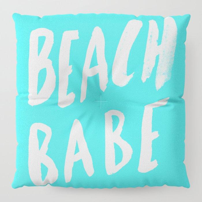 Beach Babe x Teal Floor Pillow