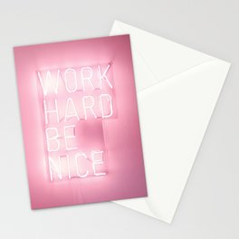 Work Hard, Be Nice Stationery Cards