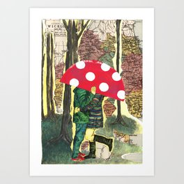 The Lesser Spotted Four Legged Toadstool Art Print