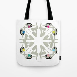 Weekend Girls Repeat Illustration Tote Bag