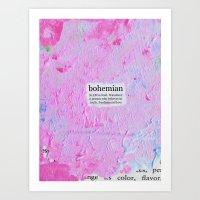 bohemian Art Prints featuring bohemian by Cari Barbachano