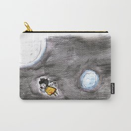 The little girl in orange in space Carry-All Pouch
