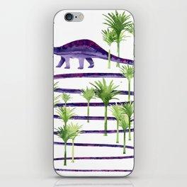 Dinosaur walk iPhone Skin