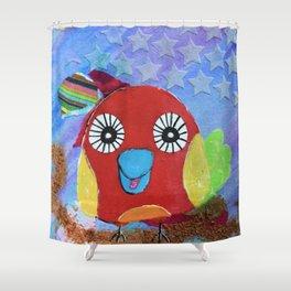 Leo AKA Candy - Quirky Bird Series Shower Curtain
