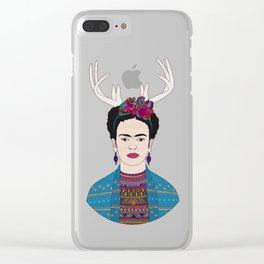 DEER FRIDA Clear iPhone Case