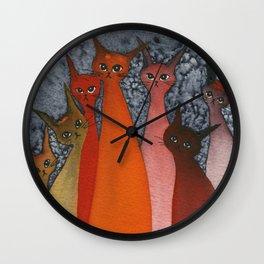 Casablanca Whimsical Cats Wall Clock