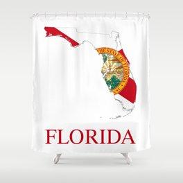 Florida-flag-map Shower Curtain