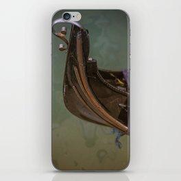 like a swan venitian gondola Venice Italy iPhone Skin