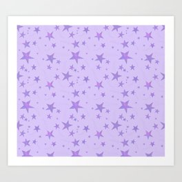 Simple Purple Stars Pattern Art Print