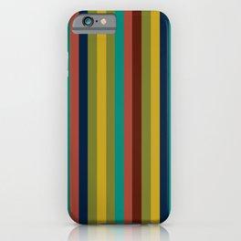 Joseph Stripes II Vertical Midcentury Modern Stripe Pattern in Mid Mod Colors iPhone Case