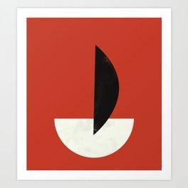 Geometric Abstract Art #6 Art Print