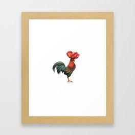 Poppycock 1 Pun Framed Art Print