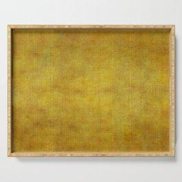 """Gold & Ocher Burlap Texture"" Serving Tray"