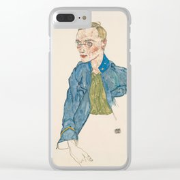 "Egon Schiele ""One-Year Volunteer Lance-Corporal"" Clear iPhone Case"