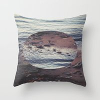 circle Throw Pillows featuring CIRCLE by Julia Yusupov