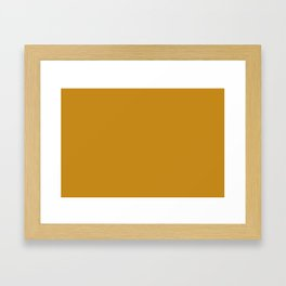 Golden Mustard Solid Color Pairs w/ Sherwin Williams 2020 Trending Color Auric Gold SW6692 Framed Art Print