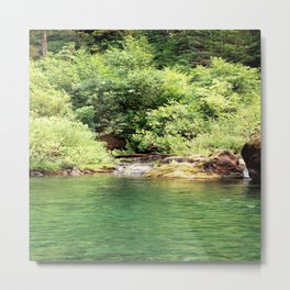 Peacefulness at the river.... Metal Print