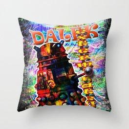 Dalek - Exterminate! by Mark Compton Throw Pillow