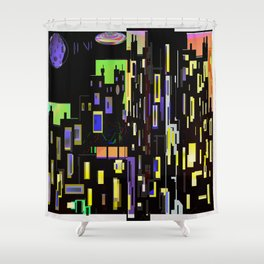 Once in a Blue Moon Heist Shower Curtain