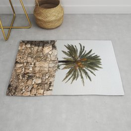 Megiddo ruins with Date Palm Tree Rug