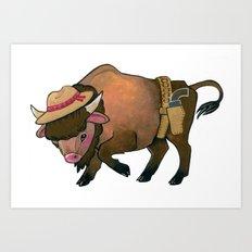Wild West Buffalo Art Print