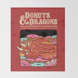 Donuts and Dragons Throw Blanket