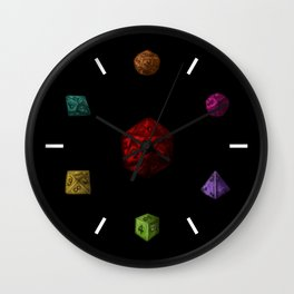 Rainbow Gaming Polyhedron Dice Wall Clock